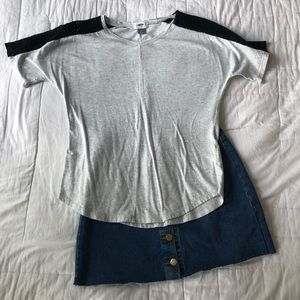 Old Navy Gray Top with Sheer Lining